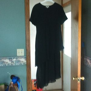 amanda smith plus size flowing black dress